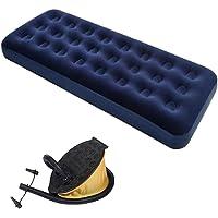 GTC® Bestway Flocked Air Bed Navy Blue 67000 (Navy Blue) (with Air Pump)