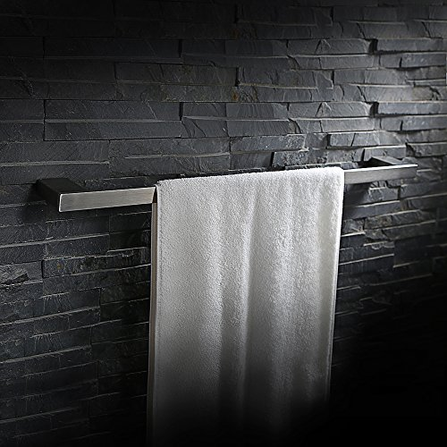 Homelody Design SS304 Edelstahl Handtuchstange Wandhandtuchhalter Handtuchständer Handtuchhalter Wandhandtuchstange Badetuchstange Wandmontage Handtuch Halter f.Badzimmer 60cm