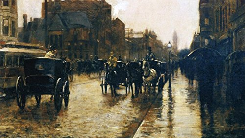 Das Museum Outlet - Columbus Avenue Rainy Day, 1885 - A3 Poster