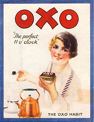 OXO The Perfect 11 0 'Horloge rétro Style Shabby Chic Style Vintage Photo Plaque Murale en métal (150 mm X 100 mm)