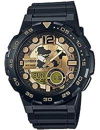 Casio Collection – Reloj Hombre Analógico/Digital con Correa de Resina – AEQ-100BW-9AVEF