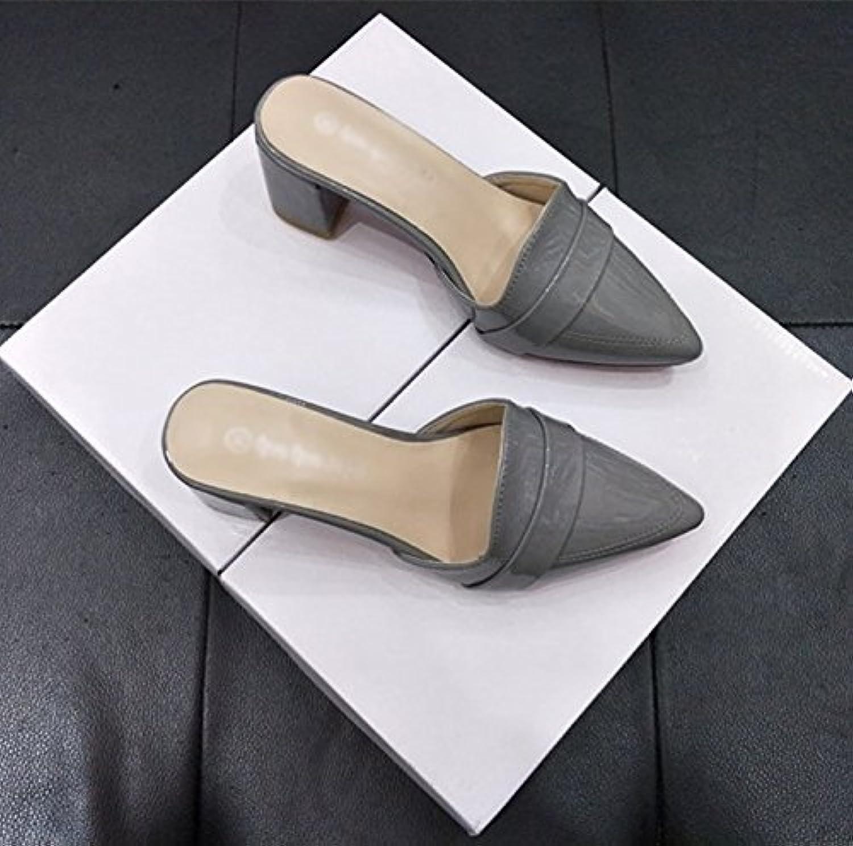 Sexy, Tacón Alto, Dedo del pie Abierto, Sandalias Romanas, Palabra Correa, Tacón Fino, Zapatos de Mujer 10cm-40|Negro