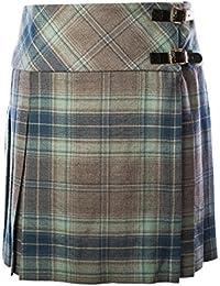 Heritage of Scotland Women's 100% Wool Joanna Scottish Tartan Kilt Blue Iris (18)