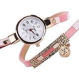 Rrimin New Stripe Navy Style Luxury Gold Women Bracelet Watch Pink