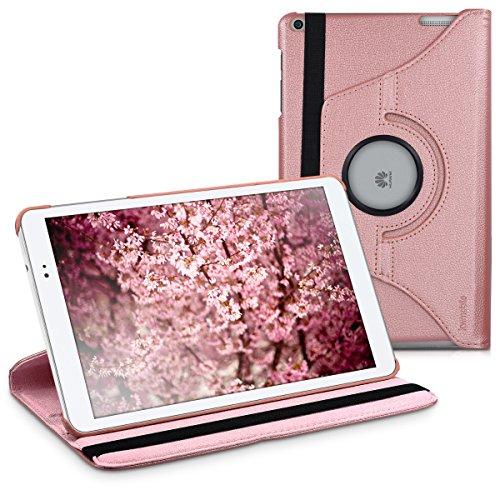 kwmobile Funda para Huawei MediaPad T1 10 - Carcasa [360 Grados] de [Cuero sintético] para Tablet en [Oro Rosa]
