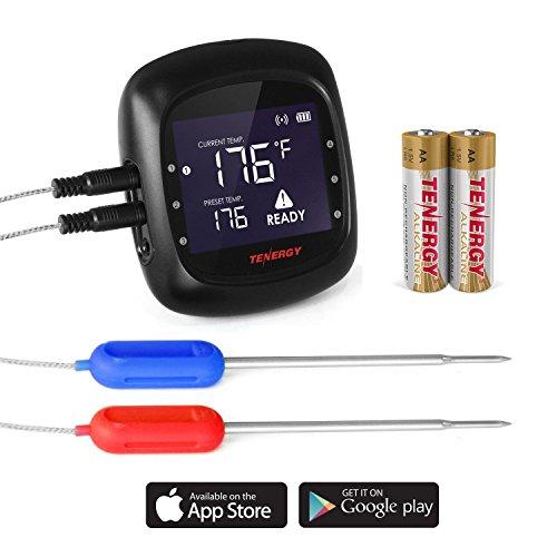 Tenergy Solis Digital Fleisch Thermometer 1 x Thermometer + 2 x Probes schwarz - Digital Probe Thermometer