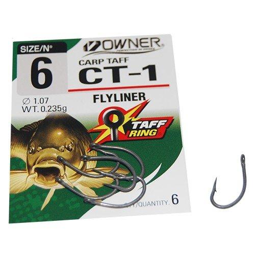 Owner Carp CT1 Hook - Karpfenhaken zum Karpfenangeln, Angelhaken zum Angeln auf Karpfen & Friedfische, Haken, Einzelhaken, Größe/Packungsinhalt:Gr. 6-6 Stück