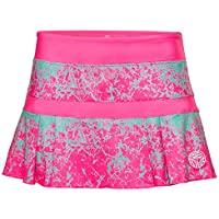 BIDI BADU Tennis Rock Damen inkl. integrierter Shorts - pink - Falten Optik - Atmungsaktiv - Sport Rock - Skirt - Skort - Liza Tech Skort - pink/Green (SP18)