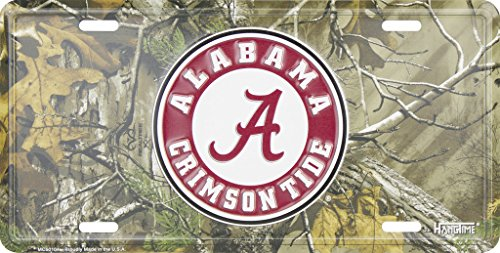 Alabama Crimson Tide Camouflage Metal License Plate by Collegiate