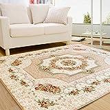 AZW@ Teppich-Vico Europäischer Mediterraner Teppich Wohnzimmer Schlafzimmer Bedside Full Couchtisch Nordic Modern Simple Rectangular Carpet,C,1.6 * 2.3M