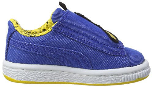 Puma Minions Basket Wrap Statement Denim Inf, Sneakers Basses Mixte Enfant Bleu (Lapis Blue-lapis Blue-minion Yellow)