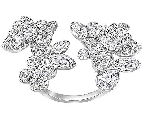 Swarovski donna-anello Eden Open in acciaio inox cristallo trasparente misura 60 (19,1) - 5221483