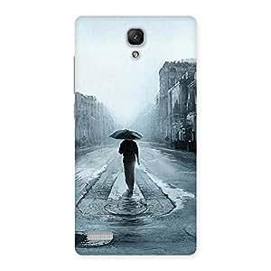 Cute Beautiful Walking Rain Multicolor Back Case Cover for Redmi Note Prime