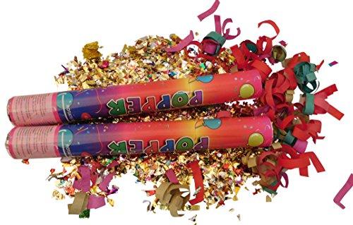 GW Handels UG 16 Set Konfettikanone 40 cm Party Popper Konfetti Shooter Konfettiregen bunt Konfetti Knaller Partykanonen Hochzeit Geburtstag Karneval