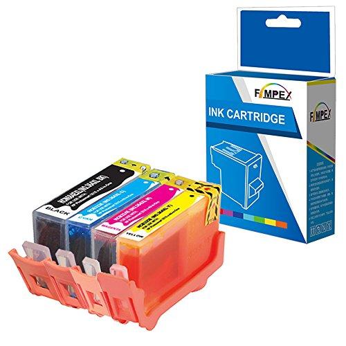 Fimpex Kompatibel Tinte Patrone Ersatz für HP Deskjet 3070A 3520 Photosmart 5510 5510 5512 5514 5515 5520 5522 5524 5525 6510 6520 6525 7510 7520 B010a B109a B109c B109d 364XL (BK/C/M/Y, 4-Pack)