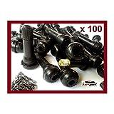 Válvulas TR414 para neumaticos (Bolsa de 100 unidades). Especial para llantas de acero / chapa, utilidad en coche, furgoneta, quad...