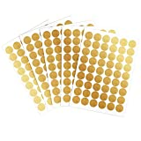 Gold Polka Dot Stickers Circle Wall Decals Peel and Stick Removable Sticker Nursery Kids Room Decor, 1.57 Inch, 270 Dots