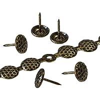 decotacks® Tiras de clavos de tapicería/Tachuela en panal 7/16(11mm) cabeza, 6metros (6,5m), acabado en latón envejecido dx5711ab-s6m-uk
