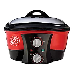 GoChef 8-in-1 Non-Stick Multi-Functional Cooker with FREE Recipe Book & 5L Bowl
