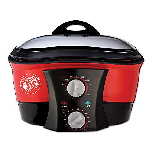 JML V0740 Go Chef 8-in-1 Multifunktions-Kochgerät, 1500W, rot, Einheitsgröße