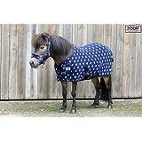SET Abschwitzdecke mit Halfter 3 Modelle Fleece weich Minishetty Shetty 60 70 80 90 100 110 cm (Star, 90)