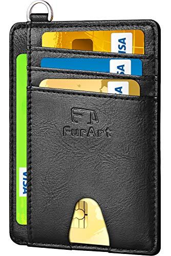 FurArt Klein Geldbörse für Herren und Damen,RFID Schutz,Kreditkartenetui,Mini Portemonnaie Geldbeutel -