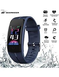 Zeerkeer Orologio da Braccialetto Fitness Tracker Orologio  Cardiofrequenzimetro Contapassi Calorie da Polso Sport Promemoria di  notifica