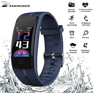 Zeerkeer Smart Armband Fitness Uhr, Activity Tracker mit Herzfrequenz Monitor & Sleep Monitor Schrittzähler Smartwatch Bluetooth Nachrichten Benachrichtigung für Phone Android iOS Smartphones 05027 …