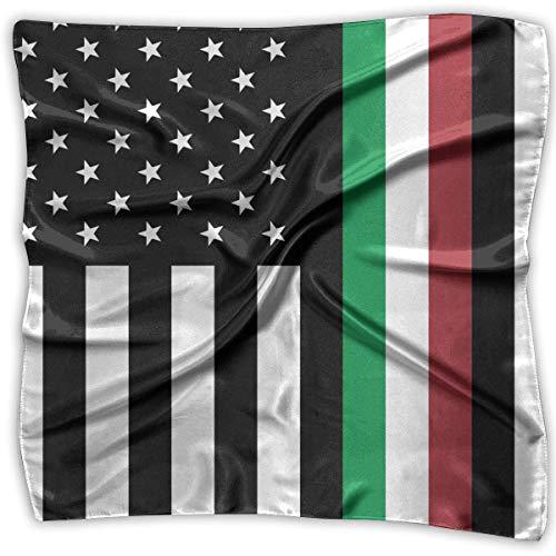 Reversible Seide Hosen (Pizeok Italy Flag Stars Square Handkerchiefs Scarf Shawl Bandanas Headscarf Neckerchief Tie Hair Scarf)