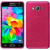 Funda de silicona para Samsung Galaxy Grand Prime - brushed rosa caldo - Cover PhoneNatic Cubierta + protector de pantalla
