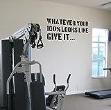 Best Motivational Wall Decals - give 100%.... Premium Motivational Wall Art Decal. Black Review