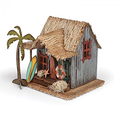 Sizzix Dorf Surfer Hütte von Tim Holtz Bigz Stanzen, Plastik/Holz/Stahl, Mehrfarbig, 17.4 x 14 x 1.9 cm