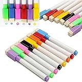 Zdan.uu 8 colori pennarelli lavagna magnetica con gomma + 1 taccuino appiccicoso