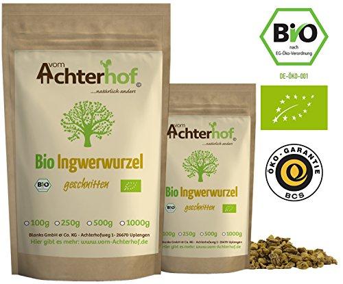 Ingwerwurzel Tee BIO (500g) | Ingwertee | Bio-Ingwer getrocknet geschnitten vom Achterhof 3