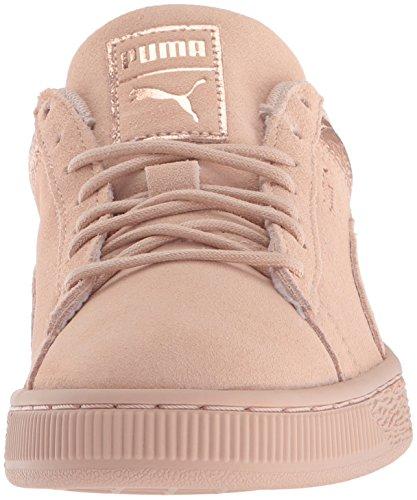PUMA Women s Suede Lunalux WN s Sneaker  Cream Tan  9 5 M US