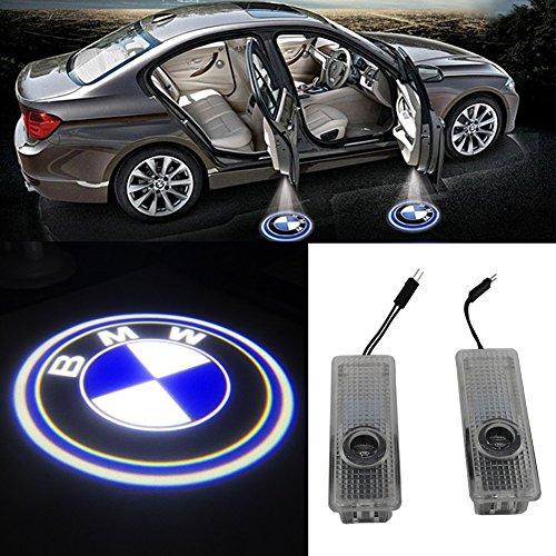 Preisvergleich Produktbild Grolish 2 X Auto Wireless Einstiegsbeleuchtung Licht Projektor Logo LED Schatten Willkommen Licht