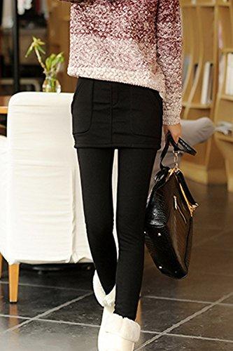 Femmes Les Chevilles YACUN Culotte Jambières Pantalon Stretch Maigre Black