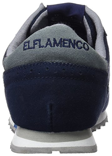 ELFLAMENCO Deportiva Caballero Serraje Picado, Chaussures Homme Bleu Marine
