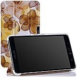MoKo Samsung Galaxy Tab 4 7.0 / Tab 4 Nook 7 2014 Funda - Ultra Slim Ligera Smart-shell Funda para Samsung GALAXY Tab 4 7.0 Pulgadas Tableta, Floral AMARILLO (NO va a caber el Tab 3 7.0)
