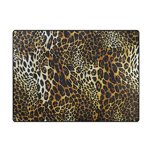 Ahomy Alfombra Area con Estampado de Leopardo,, 63 x 48 Inch
