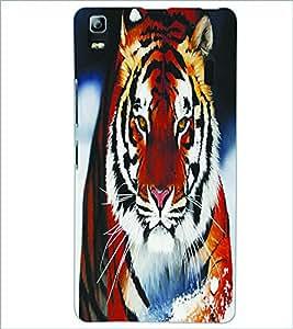 PRINTSWAG TIGER Designer Back Cover Case for LENNOVO A7000 PLUS