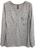 Emma & Giovanni - T-shirt Col boutonné - Femme