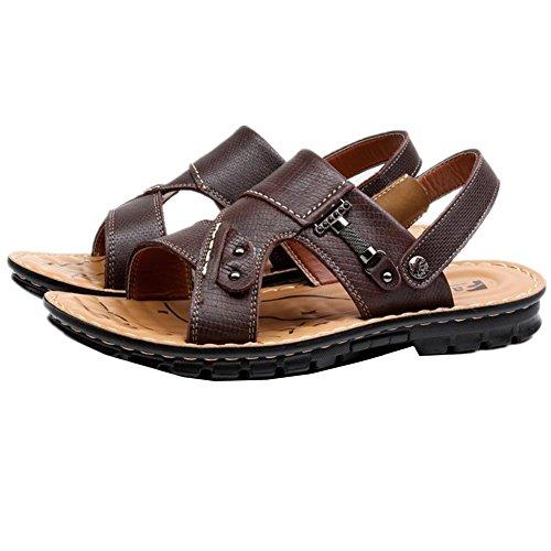 2017 nuovi sandali degli uomini casuali dei pistoni vera pelle di vacchetta Scarpe estivi uomo sandali di cuoio esterni 1