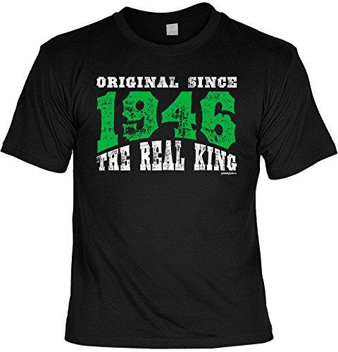 Jahrgangs-Shirt / Spaß-Shirt : Original Since 1946 The Real King - geniales Geschenk für einen lieben Menschen Schwarz