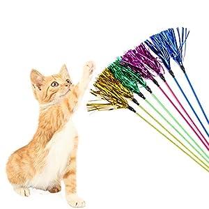 Chat Jouet Pet Fournitures Chat Papier laqué Ruban Tease bâtons Chat drôle Chat Jouets d'entraînement de Chaton