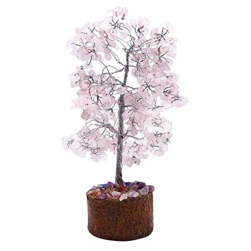 HARMONIZE Cuarzo Rosa árbol de Piedra curativo de Las Gemas de Cristal Feng Shui Espiritual Vastu Vector de la decoración