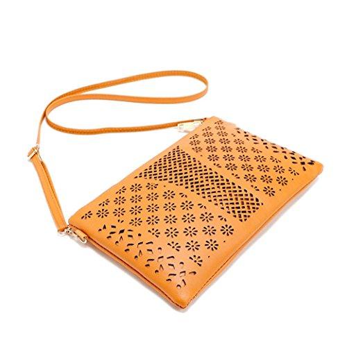Damentaschen,ZARU Umschlag Satchel Handtaschen Umhängetaschen aus Leder Braun