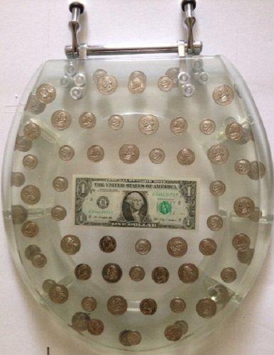 Big Money Heavy Duty Toilet Seat - Standard Size - Real Dollar Bill Inside! by Daniel's Bath and Beyond - Dollar-standard