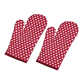 #7: Olrada Cotton Heat Proof Microwave Oven Gloves (Set of 2pcs) ( Color may vary )