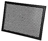 Emanhu Trading Knie-Tablett Laptop Tablet Kniekissen ESS-Tisch Maße ca. 50x36 cm Schwarz-Weiß